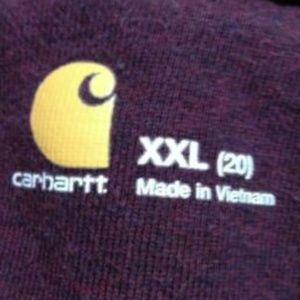 Carhartt Jackets & Coats - Carhartt Full Zip Jacket Fleece Lined Maroon Red
